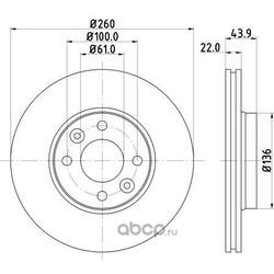 Тормозной диск (DON) PCD10212