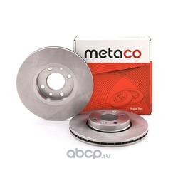 Диск тормозной передний вентилируемый (METACO) 3050005