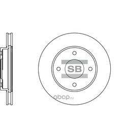 Диск тормозной передний (Sangsin brake) SD4207
