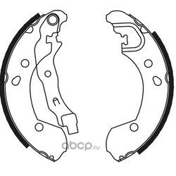 Комплект колодок для барабанных тормозов (DYNAMATRIX-KOREA) DBS649