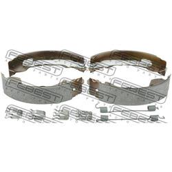 Колодки тормозные задние (барабанные) комплект (Febest) 0202K12R