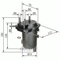 Топливный фильтр (Bosch) 0450907011