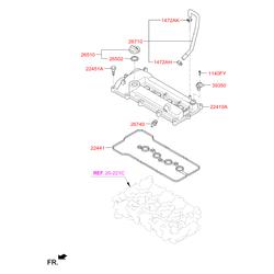 Обратный клапан вентиляции картера двигателя (Hyundai-KIA) 2674003000
