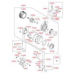 Изолятор вывода генератора (Hyundai-KIA) 3732127010