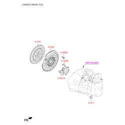 Комплект сцепления (Hyundai-KIA) 4130032001