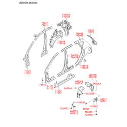 Передняя стойка кузова (Hyundai-KIA) 711102LA00