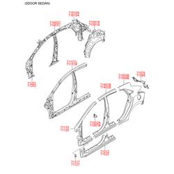 Панель кузова (Hyundai-KIA) 71620A6000