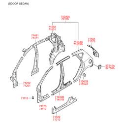 Панель кузова (Hyundai-KIA) 716012L010