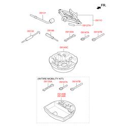 Буксировочный крюк (Hyundai-KIA) 091473M000