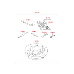 Буксировочный крюк (Hyundai-KIA) 091471H000