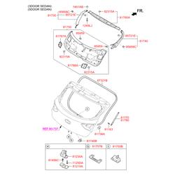 Амортизационная стойка багажной двери (Hyundai-KIA) 81770A6000