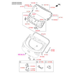 Амортизационная стойка багажной двери (Hyundai-KIA) 81780A6200
