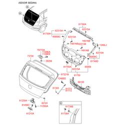 Амортизационная стойка багажной двери (Hyundai-KIA) 817712R000