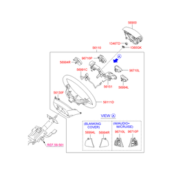 Корпус рулевого колеса (Hyundai-KIA) 561112R000