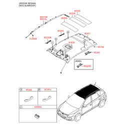 Подушка безопасности в сборе (Hyundai-KIA) 850102R000