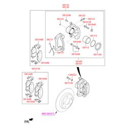 Пыльник (Hyundai-KIA) 581141H000