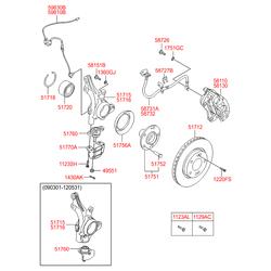 Тормозной суппорт (Hyundai-KIA) 581101H000