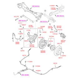 Тормозной суппорт (Hyundai-KIA) 582101H300