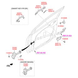 Ручка двери (Hyundai-KIA) 82661A6000CA