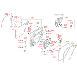 Ручка двери (Hyundai-KIA) 836102L010