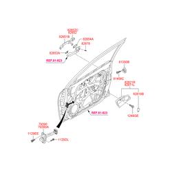 Ручка двери (Hyundai-KIA) 826511H000