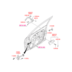 Корпус ручки открывания двери (Hyundai-KIA) 826212L000XP