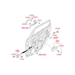 Корпус ручки открывания двери (Hyundai-KIA) 836212L000XP
