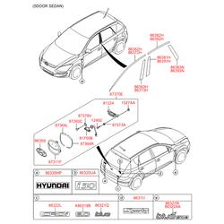 Ручка двери (Hyundai-KIA) 812602L000