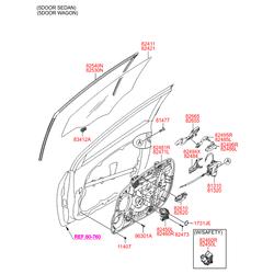 Эл,двигатель стеклоподъемника стекла двери, 60вт (Hyundai-KIA) 82460A5000