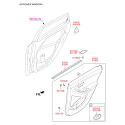Переключатель стеклоподъемника двери, 12в (Hyundai-KIA) 93581A6000