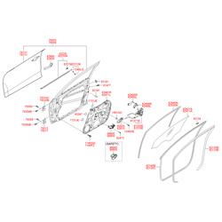 Эл,двигатель стеклоподъемника двери, 60вт (Hyundai-KIA) 824602R000