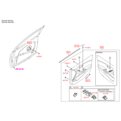 Переключатель регулятора положения зеркала двери (Hyundai-KIA) 93573A6010