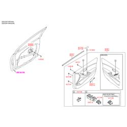 Переключатель регулятора положения зеркала двери (Hyundai-KIA) 93573A6020
