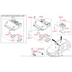 Лампа салона (Hyundai-KIA) 928503X000TX