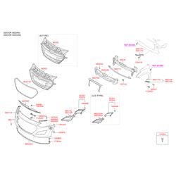 Решетка радиатора (Hyundai-KIA) 86350A6600