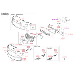 Решетка радиатора (Hyundai-KIA) 86351A6000