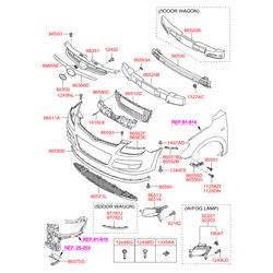 Опорная планка бампера (Hyundai-KIA) 865132R000