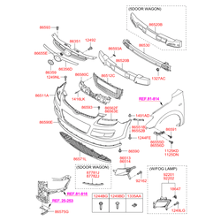 Опорная планка бампера (Hyundai-KIA) 865142R000