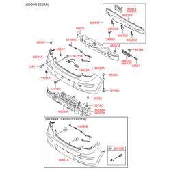 Опорная планка бампера (Hyundai-KIA) 866142R000