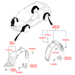 Подкрылок (Hyundai-KIA) 86821A6200