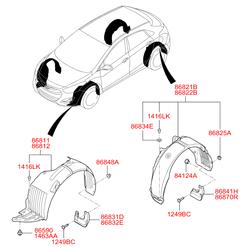 Брызговик (Hyundai-KIA) 86842A6200