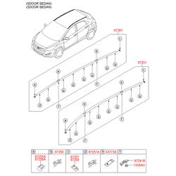 Спойлер кузова (Hyundai-KIA) 87211A6000