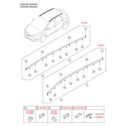 Рейлинг крыши кузова (Hyundai-KIA) 87280A6510