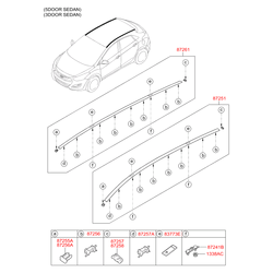 Рейлинг крыши (Hyundai-KIA) 87280A6520