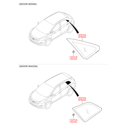 Боковое стекло кузова (Hyundai-KIA) 87820A5010