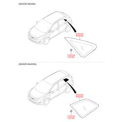 Боковое стекло кузова (Hyundai-KIA) 87820A6500