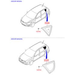 Боковое стекло кузова (Hyundai-KIA) 878102R300