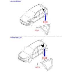 Боковое стекло кузова (Hyundai-KIA) 878202R300