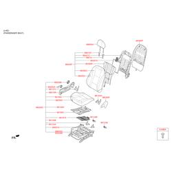 Чехол подушки сиденья водителя (Hyundai-KIA) 88160A6000SGB