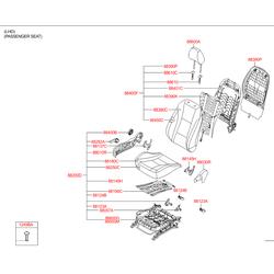 Чехол подушки сиденья (Hyundai-KIA) 88160A6100SGF